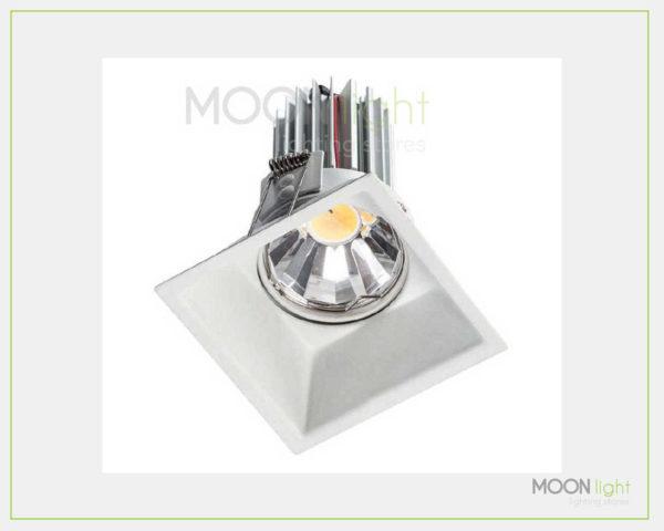 Faretto Quadrato Arretrato COB LED 7W