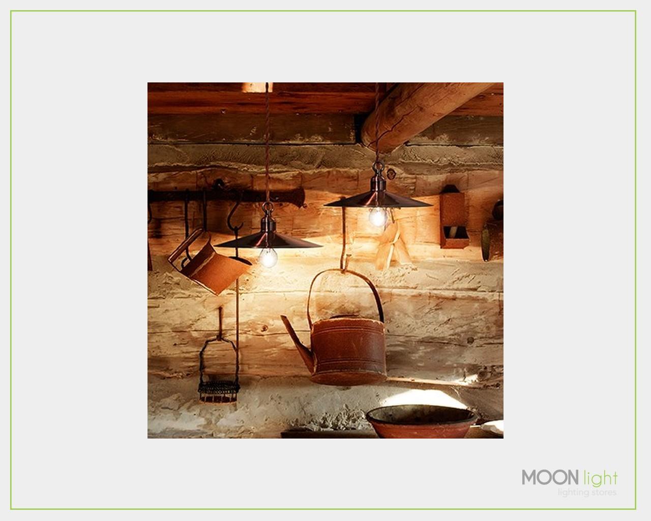 Illuminazione Rame : Sospensione piatto rame