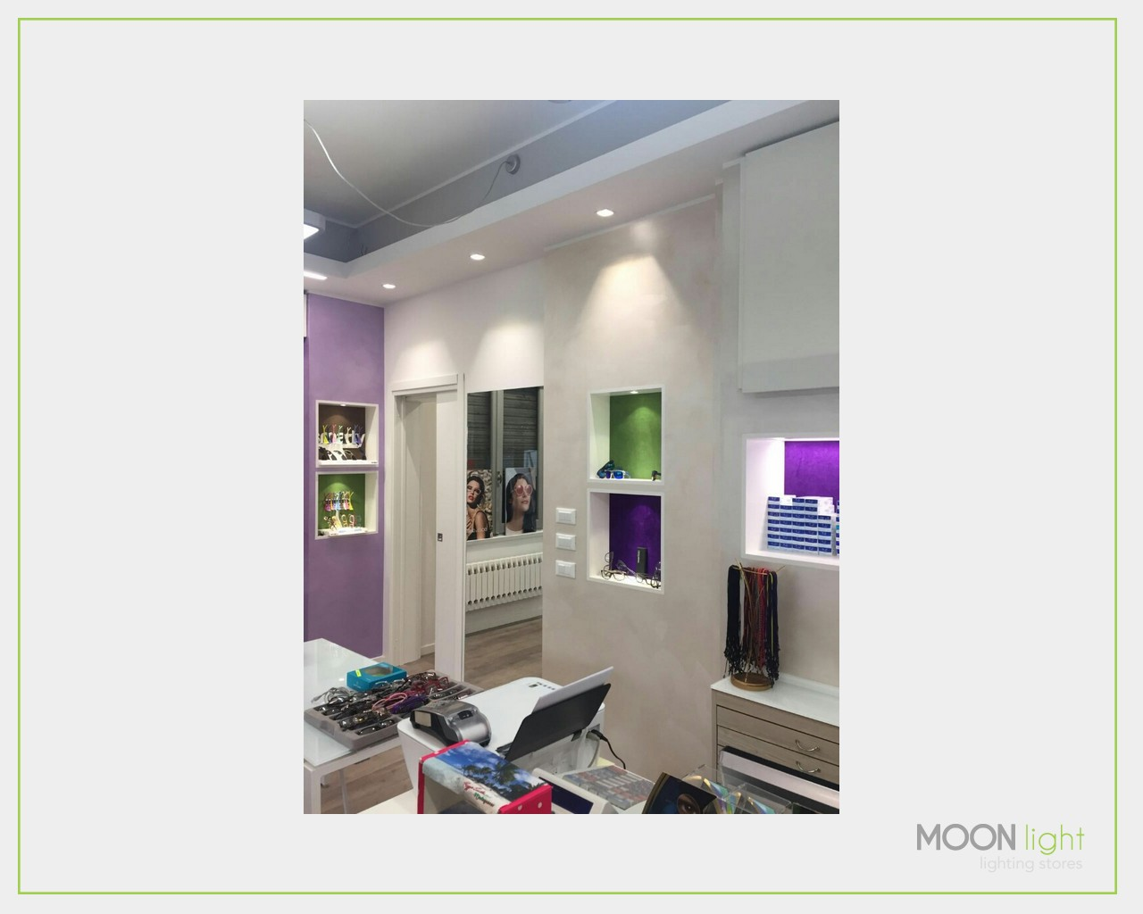 Realizzazione ottica illuminazione led negozi