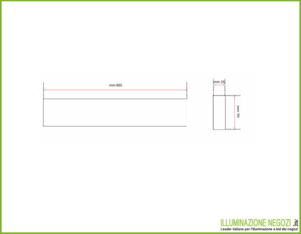 lampada-parete-righello-tecnico90