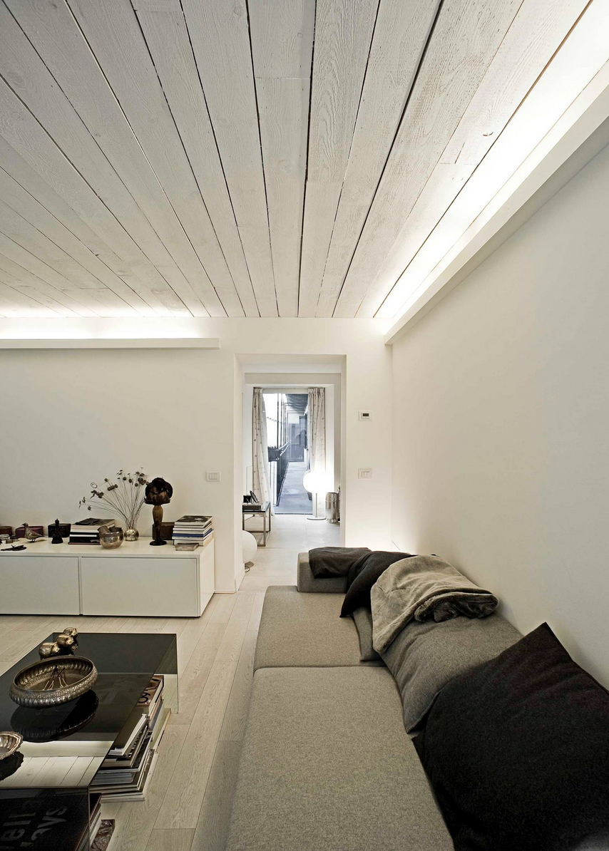 Illuminazione soffitto travi a vista for Soffitto travi a vista bianco